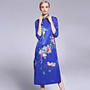 זול תלבושות אתניות ותרבותיות-עומד פרח, פרחוני - שמלה נדן סגנון סיני בגדי ריקוד נשים