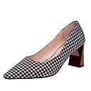 cheap Women's Heels-Women's Shoes Fabric / PU(Polyurethane) Spring / Fall Comfort Heels Chunky Heel Black / Coffee / Red