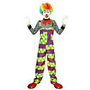 hesapli Lolita Aksesuarları-Burlesque / Palyaço Sirk Cosplay Kostümleri Parti Kostümleri Erkek Kadın's Parti / Gece Tek Parça Erkek Üniforma Karnaval Festival / Tatil Kıyafetler Gökküşağı Zıt Renkli