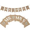 billige Bryllupsdekorasjoner-Banner og løper Hemp Rope / N / A / Jute Bryllupsdekorasjoner Bryllup / Fest / aften Klassisk Tema / Bryllup / Vintage Theme Alle årstider
