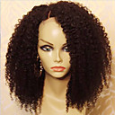 cheap Human Hair Wigs-Human Hair Glueless Lace Front Lace Front Wig Brazilian Hair Kinky Curly Wig with Baby Hair 130% Hair Density Natural Hairline African American Wig 100% Virgin Short Medium Length Human Hair Lace Wig