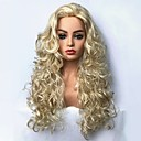 cheap Synthetic Capless Wigs-Synthetic Wig Curly Blonde Synthetic Hair Blonde Wig Long Capless