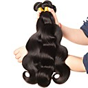 cheap Unprocessed Hair-3 Bundles Brazilian Hair Body Wave Human Hair Natural Color Hair Weaves / Hair Bulk 8-28 inch Natural Black Human Hair Weaves Double Weft / No Split / Healthy End Human Hair Extensions Women's