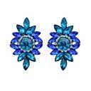 זול עגילים אופנתיים-בגדי ריקוד נשים נברשת עגילי טיפה - חיקוי טורמלין פרח פשוט, בסיסי ירוק / כחול / חום בהיר עבור יומי / פגישה (דייט)