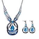 זול סטים של תכשיטים-בגדי ריקוד נשים סט תכשיטים - טיפה בוהמי, ארופאי, בוהו לִכלוֹל כחול עבור Party / מסיבת ערב / עגילים