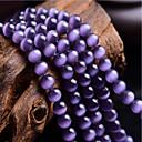 זול חרוזים-תכשיטים DIY 46 יח חרוזים אבני חן סינתטיות סגול עגול חָרוּז 0.8 cm עשה זאת בעצמך שרשראות צמידים