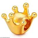 זול חרוזים-תכשיטים DIY 1 יח חרוזים סגסוגת זהב Crown Shape חָרוּז 0.5 cm עשה זאת בעצמך שרשראות צמידים
