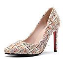 povoljno Ženske cipele s petom-Žene Cipele Sintetika, mikrofibra, PU / Umjetna koža Proljeće / Ljeto Udobne cipele / Obične salonke Cipele na petu Stiletto potpetica