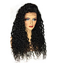 cheap Human Hair Wigs-Human Hair 360 Frontal Wig Side Part style Brazilian Hair Curly 360 Frontal Wig 250% Density with Baby Hair Natural Hairline Bleached Knots Women's Long Human Hair Lace Wig ELVA HAIR
