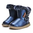 זול סניקרס לגברים-בנות נעליים דמוי עור חורף נוחות / מגפי שלג מגפיים נוצות / פרנזים ל כחול כהה