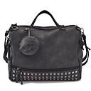 cheap Totes-Women's Bags Polyester / PU(Polyurethane) Tote Beading / Zipper Green / Black / Gray / Fall & Winter