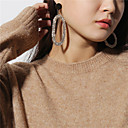 cheap Earrings-Women's Mismatched Drop Earrings - Oversized Gold / Silver For Party Gift
