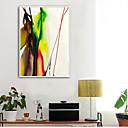 זול אומנות ממוסגרת-מופשט איור וול ארט,פלסטיק חוֹמֶר עם מסגרת For קישוט הבית אמנות מסגרת סלון פנימי