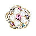 cheap Pins and Brooches-Women's Cubic Zirconia Brooches - Imitation Pearl, Zircon Portable, Colorful Brooch Rainbow For Wedding / School