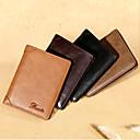 baratos Acessórios de Viagem & Bagagem-Portadores de Cartão de Crédito / Pulseira de Couro / Carteiras - Dobrável Ao ar livre Casual couro legítimo Café, Marron, Khaki