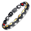 cheap Men's Bracelets-Men's Chain Bracelet Hologram Bracelet Magnetic Bracelet - Bracelet Black For Causal Daily