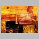 זול הדפסי בד מתוחים-ציור שמן צבוע-Hang מצויר ביד - מופשט עכשווי בַּד