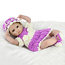 cheap Puppets-NPK DOLL Reborn Doll Baby 18 inch Silicone / Vinyl - lifelike, Hand Applied Eyelashes, Tipped and Sealed Nails Kid's Girls' Gift / CE Certified / Natural Skin Tone / Floppy Head