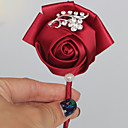 "cheap Wedding Flowers-Wedding Flowers Boutonnieres Wedding Event/Party Satin 3.94""(Approx.10cm)"