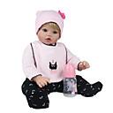 זול בובות-NPK DOLL בובה מחדש תינוקות בנות 20 אִינְטשׁ סיליקון / ויניל - כְּמוֹ בַּחַיִים, ריסים ידניים, ציפורניים אטומות וחותמות הילד של בנות מתנות / CE / עור טבעי / ראש דיסקט