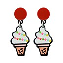 cheap Earrings-Women's Drop Earrings - Ice Cream, Watermelon Fashion White / Red For Daily Date