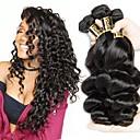 olcso Természetes színű póthajak-3 csomag Brazil haj Laza hullám Emberi haj Az emberi haj sző Emberi haj sző Human Hair Extensions