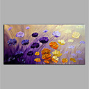 cheap Floral/Botanical Paintings-Oil Painting Hand Painted - Abstract Floral / Botanical Modern Canvas