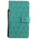 ieftine Cazuri telefon & Protectoare Ecran-Maska Pentru LG K10 (2017) G6 Titluar Card Portofel Cu Stand Întoarce Model Carcasă Telefon Culoare solidă dantelă de imprimare Greu PU