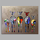 cheap Animal Paintings-Oil Painting Hand Painted - Animals Pop Art Modern Canvas