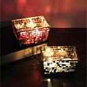 זול אחסון תכשיטים-סגנון ארופאי / מודרני / עכשווי זכוכית פמוטים 1pc, מחזיק נר / נרות