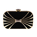 cheap Clutches & Evening Bags-Bags Polyester / Metal Evening Bag Crystals for Event / Party / Formal Black / Red