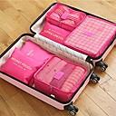 halpa Matkustuslaukut-6 sarjaa Matkalaukku / Matkanjärjestäjä / Matkatavaran sisälaukku Suuri tilavuus / Vedenkestävä / Kannettava RINTALIIVIT / Vaatteet Oxford-kangas Matkailu / Kestävä / Kaksipuolinen vetoketju