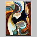 povoljno Slike krajolika-Hang oslikana uljanim bojama Ručno oslikana - Ljudi Moderna Platno