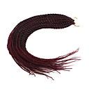 billige Oppbevaring og Organisering-Senegalesisk Twist Syntetisk hår 1pack Heklet hårfletting Hårfletter 22 tommer (ca. 56cm)
