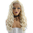 cheap Ombre Hair Weaves-Synthetic Wig Kinky Curly / Deep Wave Blonde Synthetic Hair Natural Hairline / African American Wig Blonde Wig Lace Front