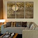 abordables Óleos-Impresiones en Lienzo Estirado Modern, Tres Paneles Lona Vertical Estampado Decoración de pared Decoración hogareña