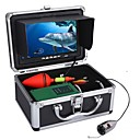 abordables Sensores y Alarmas de Seguridad-Equipo subacuático de la cámara de vídeo de la pesca de los 30m 1000tvl 6 luces llevadas de las PC con el monitor color de 7 pulgadas