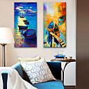 preiswerte Tiergemälde-Aufgespannte Leinwandrucke Modern, Zwei Panele Segeltuch Vertikal Druck Wand Dekoration Haus Dekoration