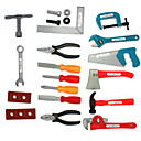 cheap Toy Tools-Construction Tool Pretend Play Toy Tool Safety Plastic Kid's Unisex Boys' Girls' Toy Gift 22 pcs