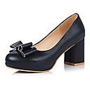 olcso Női magassarkú cipők-Női Cipő PU Tavasz / Ősz Kényelmes / Újdonság Magassarkúak Vaskosabb sarok Erősített lábujj Csokor Kék / Rózsaszín / Mandula