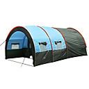 olcso Sátrak-7 fő Szabadtéri Családi Camping Tent Szélbiztos Melegen tartani Ultra könnyű (UL) Lélegzési képesség Rovartaszító Túlméretezett Szúnyogvédelem Rúd Alagút Két szoba Szimpla falú 1000-1500 mm Kemping