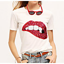 cheap Necklaces-Women's Going out Street chic T-shirt - Geometric