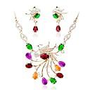 זול סטים של תכשיטים-בגדי ריקוד נשים סט תכשיטים - יהלום מדומה פשוט, אופנתי לִכלוֹל שרשרת זהב עבור חתונה / Party