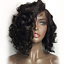 cheap Bottle Favors-Human Hair Wig Brazilian Hair 360 Frontal / Loose Wave 180% Density Natural Hairline / African American Wig / 100% Hand Tied Women's Short / Medium Length Human Hair Lace Wig / Curly