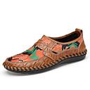 tanie Męskie mokasyny-Męskie Komfortowe buty Skóra / Sztuczna skóra Wiosna / Lato Mokasyny i buty wsuwane Kolorowy blok Brązowy / Zielony / Niebieski