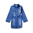 tanie Zestawy ubrań dla dziewczynek-Dzieci Dla dziewczynek Prosty / Casual Codzienny Solidne kolory / Nadruk Długi rękaw Poliester Trenczy Niebieski 150