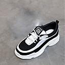 זול נעלי ספורט לגברים-בגדי ריקוד נשים נעליים גומי אביב נוחות נעלי אתלטיקה שטוח בוהן עגולה שחור לבן