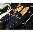 baratos Oxfords Masculinos-Homens Sapatos Confortáveis Pele Primavera / Outono Mocassins e Slip-Ons Preto / Cinzento / Azul