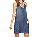 cheap Totes-Women's Basic Denim Dress - Solid Colored