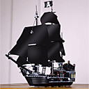 abordables Bloques de Espuma-Black Pearl Bloques de Construcción Bloques militares Set de construcción de juguetes 804 pcs Piratas Barco pirata Soldier compatible Legoing Exquisito Estilo retro Chico Chica Juguet Regalo